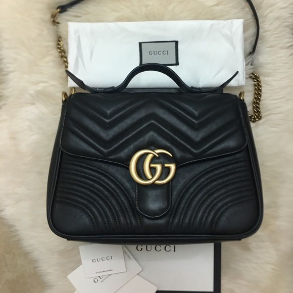 1a9c88e0a1b69e Gucci Bags | Gg Marmont Small Top Handle Satchel Bag | Poshmark